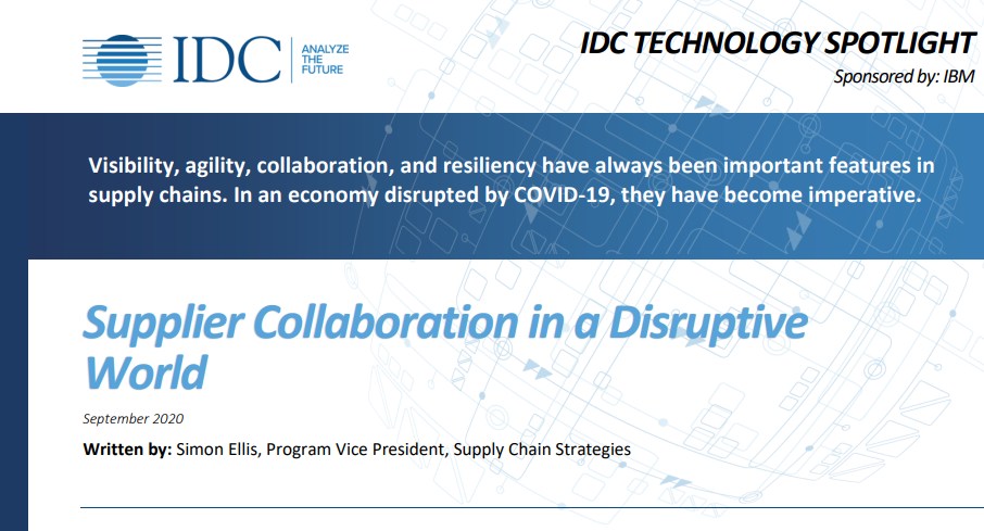 Supplier Collaboration in a Disruptive World