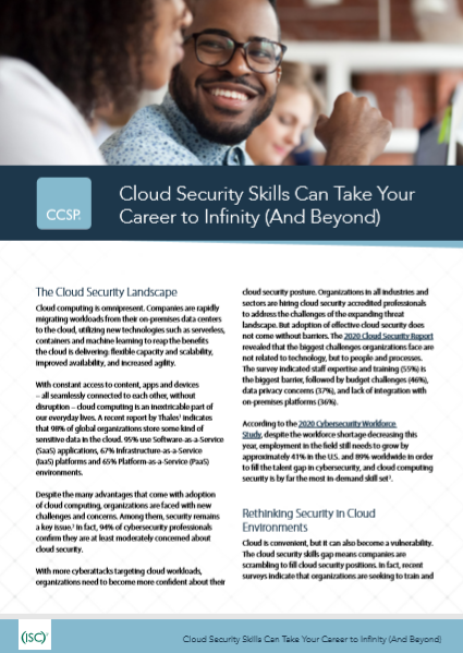 Cloud Security Skills Can Take Your Career to Infinity (And Beyond)