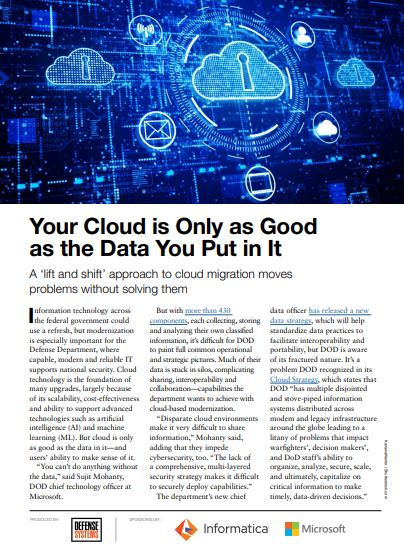 Your Cloud Is Only as Good as the Data You Put in It