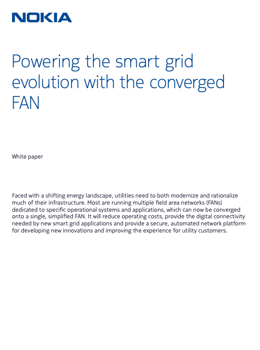 Power up your smart grid with a converged FAN
