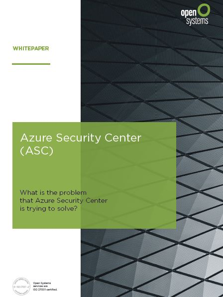 What is the problem that Azure Security Center is trying to solve?