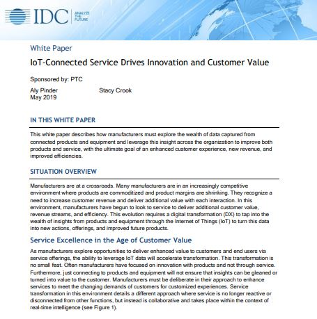 IoT-Connected Service Drives Innovation and Customer Value