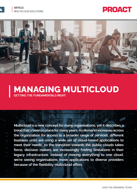 MANAGING MULTICLOUD GETTING THE FUNDAMENTALS RIGHT