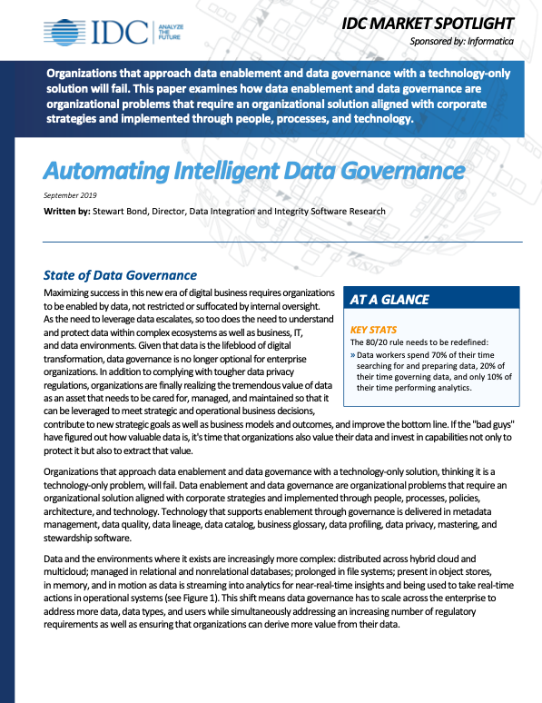 Automating Intelligent Data Governance