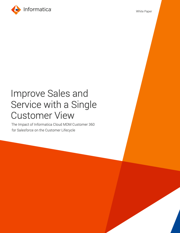 Improve Sales and Service with a Single Customer View