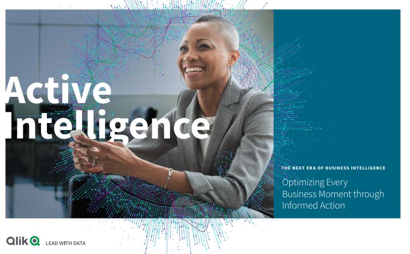 Active Intelligence: The Next Era in Business Intelligence