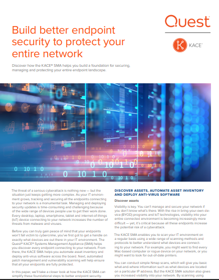 Build Better Endpoint Security to Protect Your Entire Network