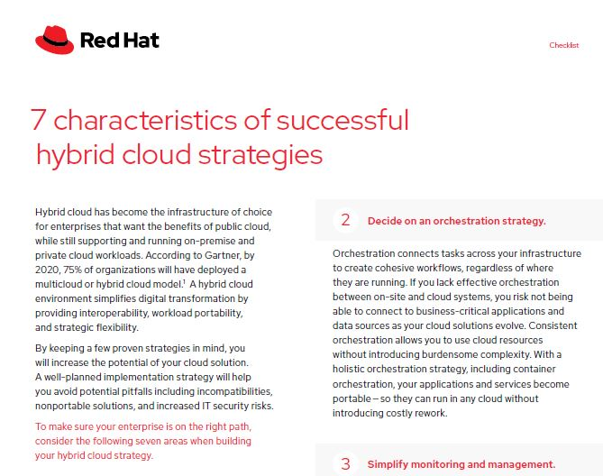 7 characteristics of successful hybrid cloud strategies