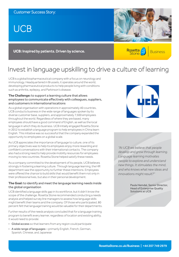 Invest in language upskilling to drive a culture of learning