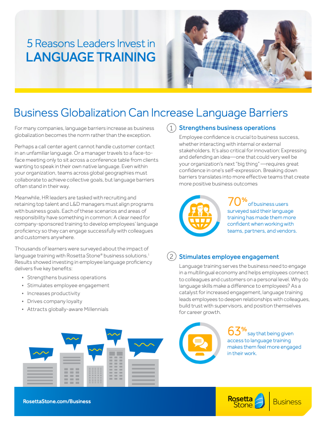 5 Reasons Leaders Invest in Language Training