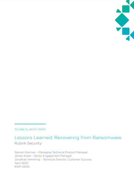 Lessons Learned: Recovery from Ransomware