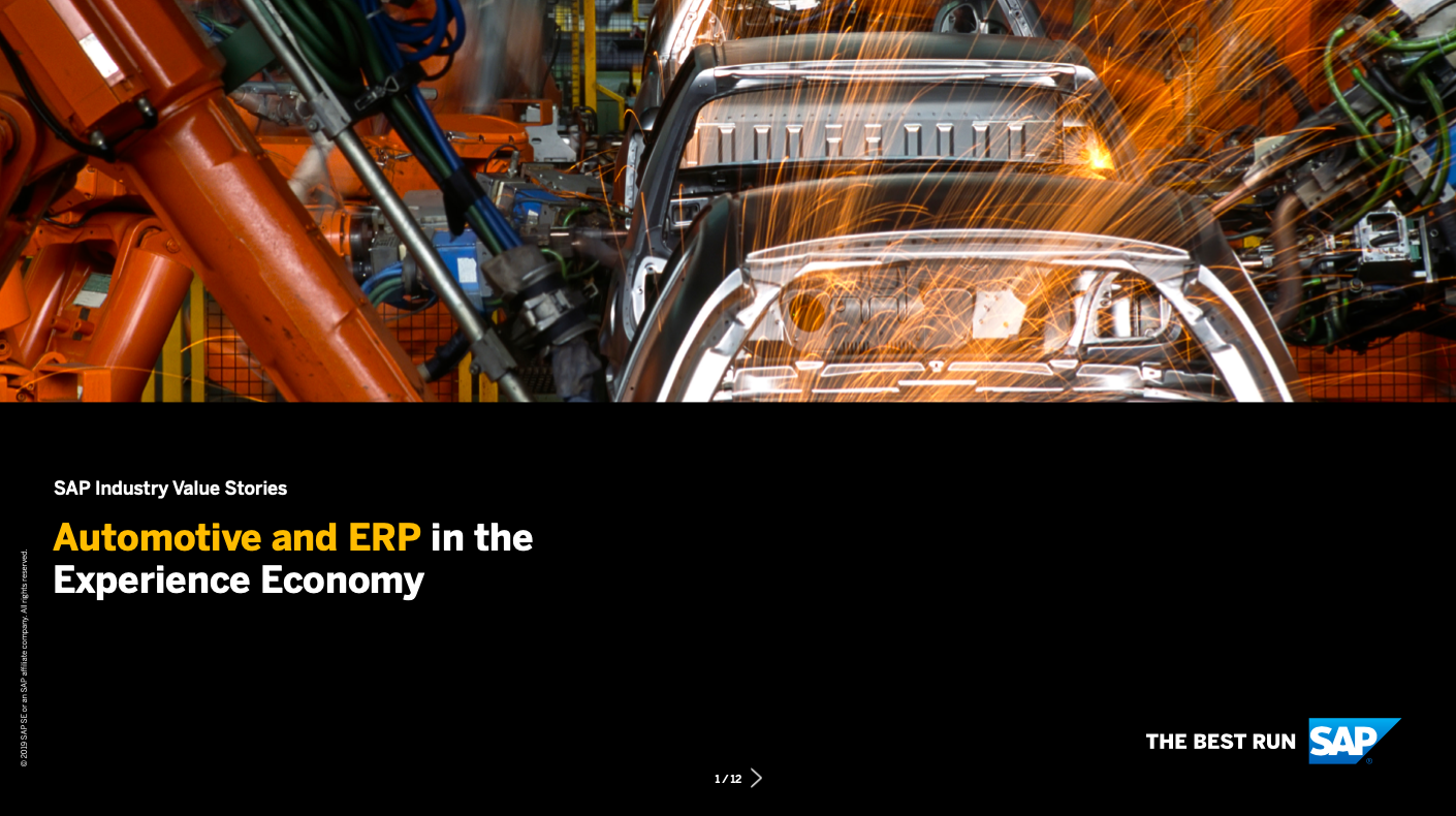 Automotive and ERP in the Experience Economy
