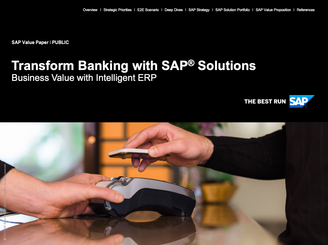 Transform Banking with SAP® Solutions