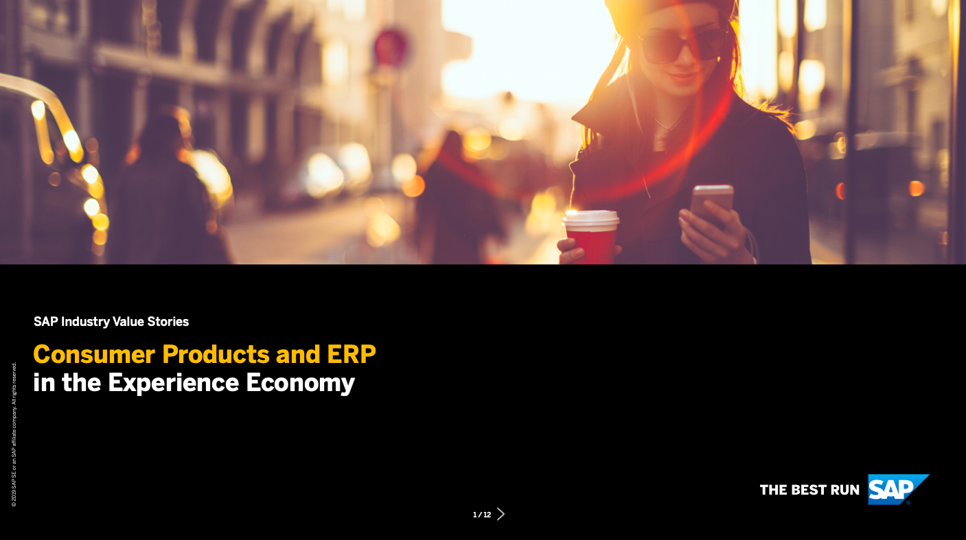 Consumer Products and ERP in the Experience Economy