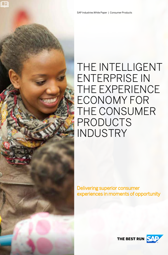 The intelligent enterprise in the experience economy for the consumer products industry