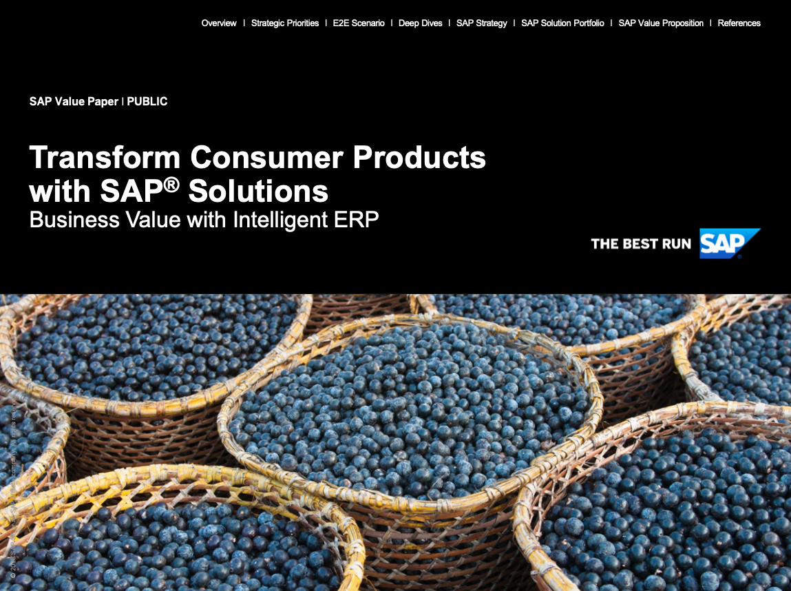 Transform Consumer Products with SAP® Solutions