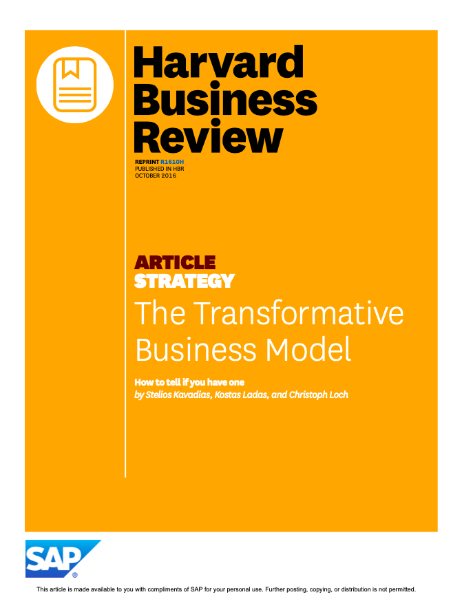 The Transformative Business Model