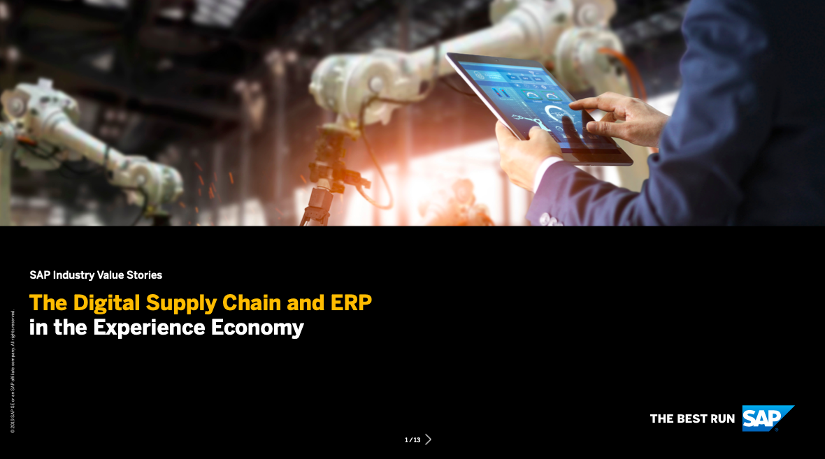 The Digital Supply Chain and ERP in the Experience Economy