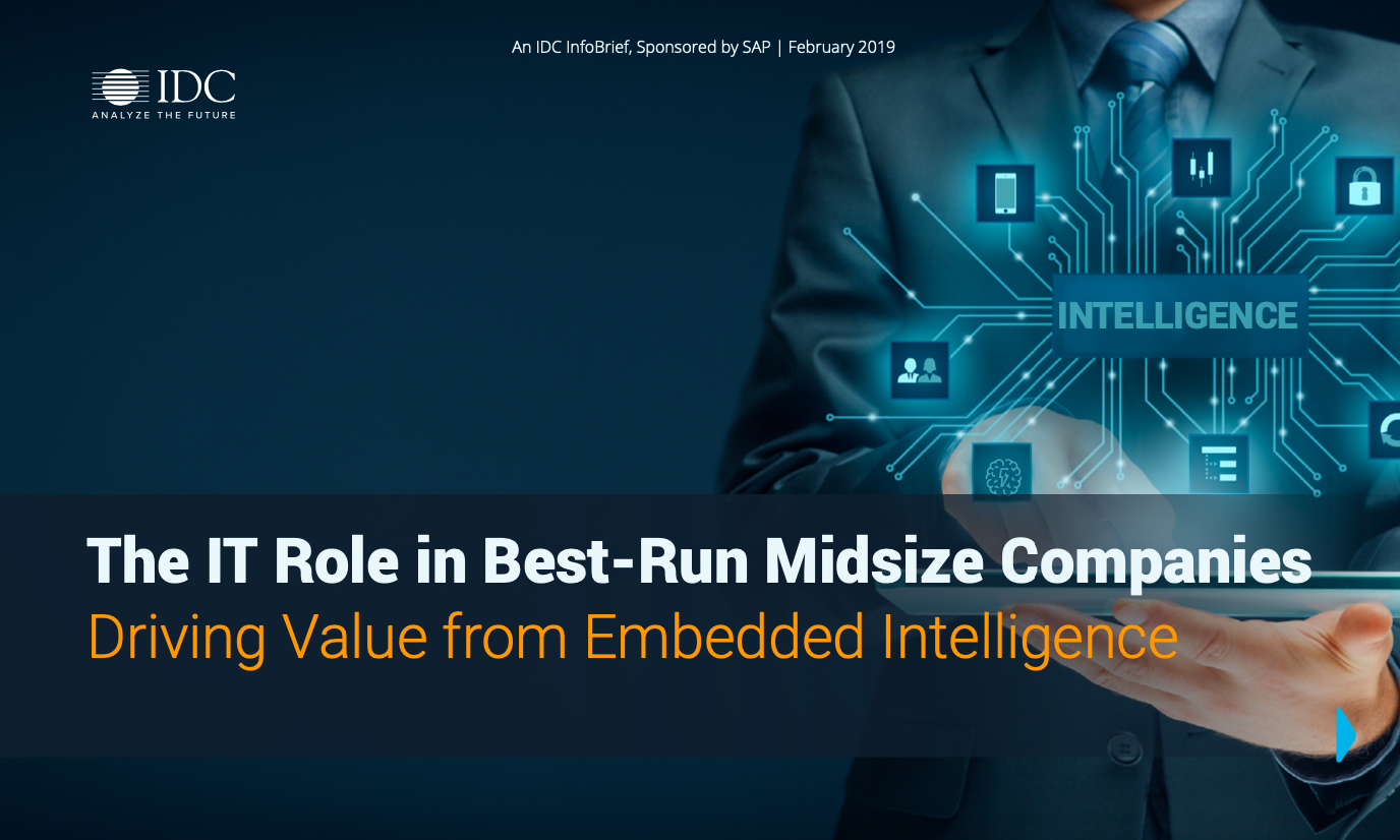 The IT Role in Best-Run Midsize Companies Driving Value from Embedded Intelligence