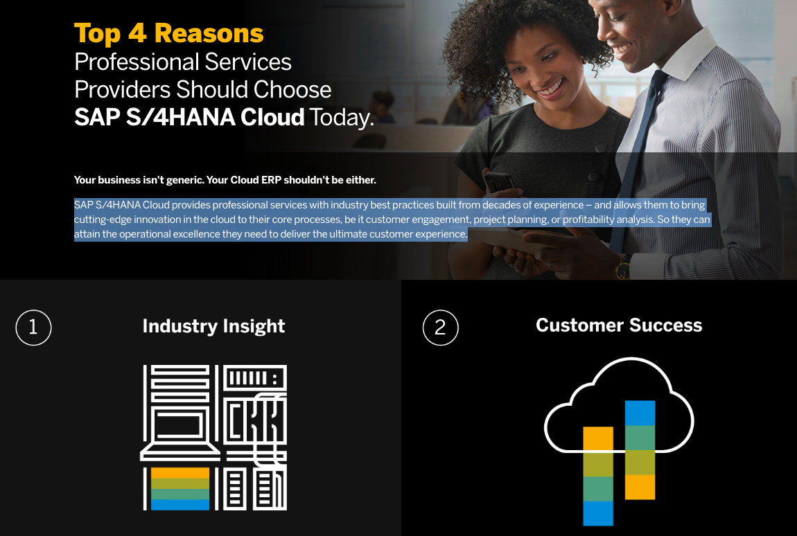 Top 4 Reasons Professional Services Providers Should Choose SAP S/4HANA Cloud Today