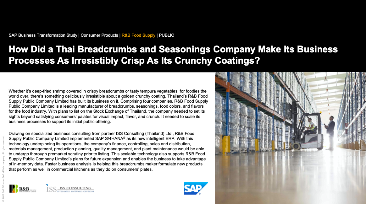 How Did a Thai Breadcrumbs and Seasonings Company Make Its Business Processes As Irresistibly Crisp As Its Crunchy Coatings?