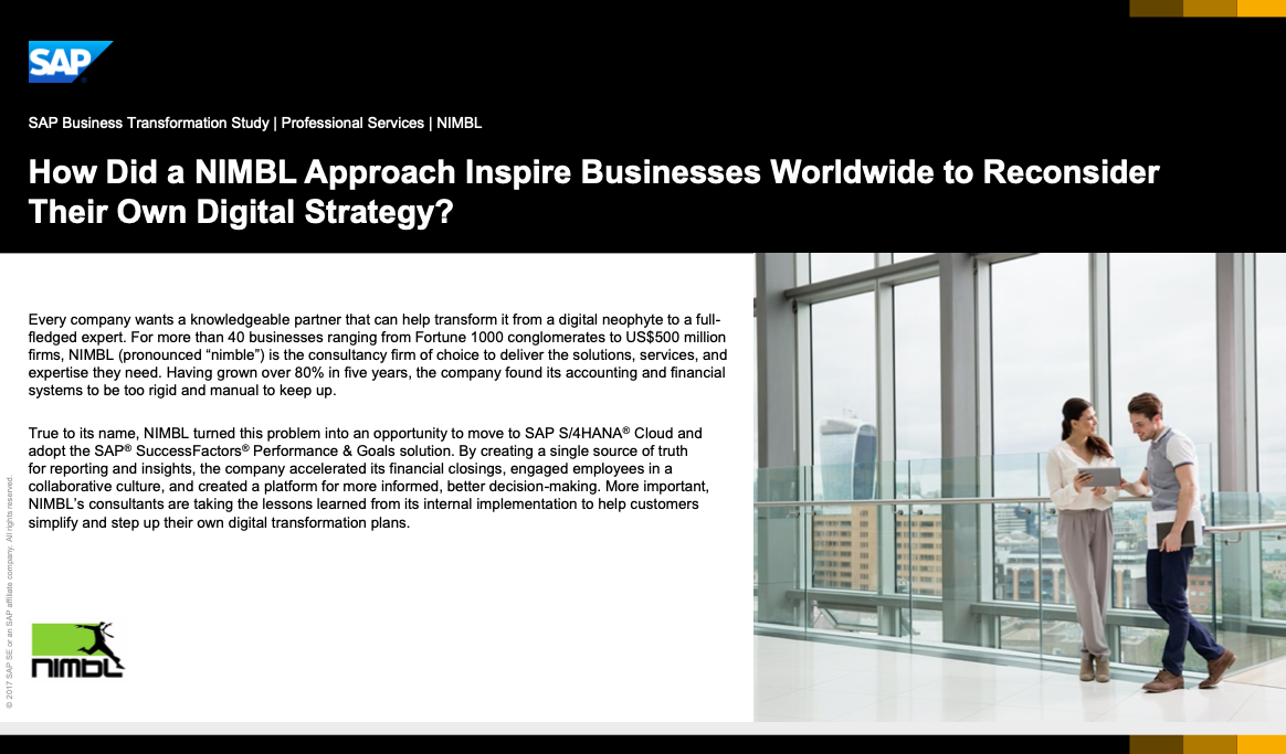 How Did a NIMBL Approach Inspire Businesses Worldwide to Reconsider Their Own Digital Strategy?