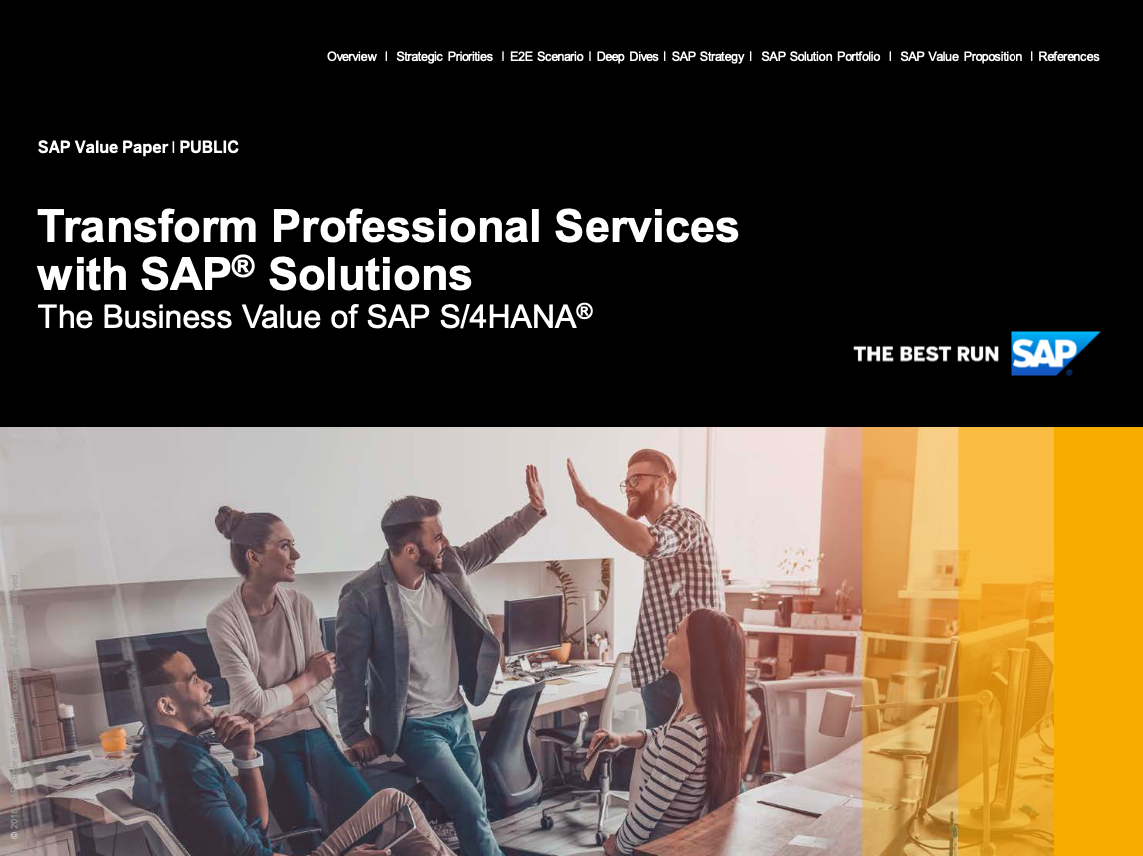 Transform Professional Services with SAP® Solutions