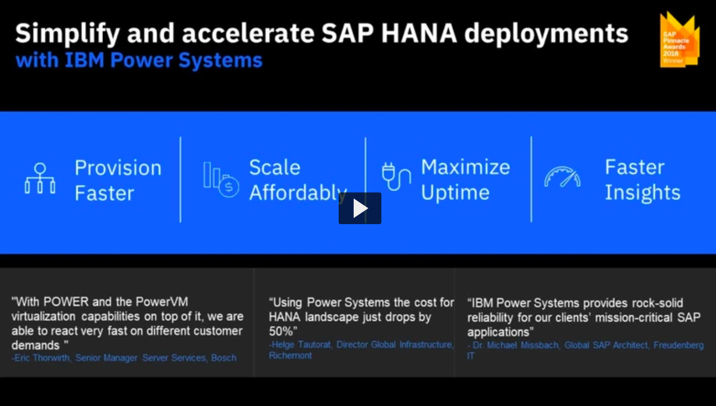 Forrester: The Total Economic Impact Of IBM® Power Systems™ For SAP HANA®