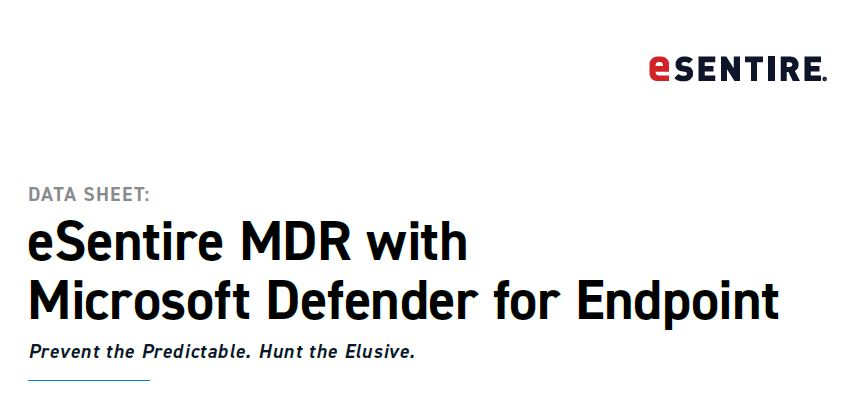 eSentire MDR with Microsoft Defender for Endpoint
