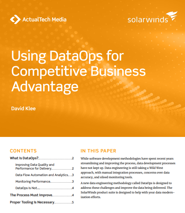 Using DataOps for Business Advantage Tech Brief