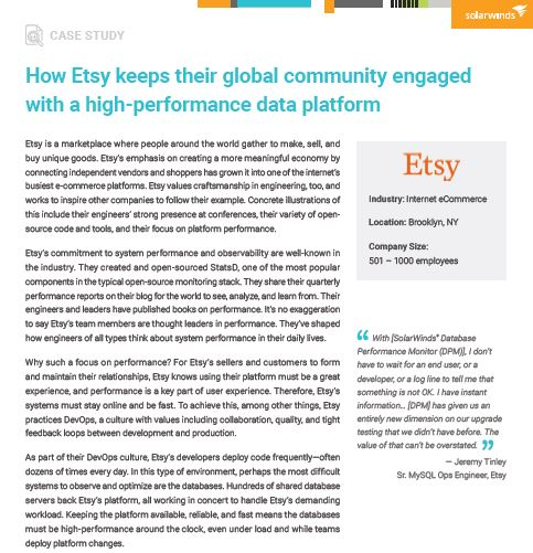 How Etsy keeps their global community engaged with a high-performance data platform