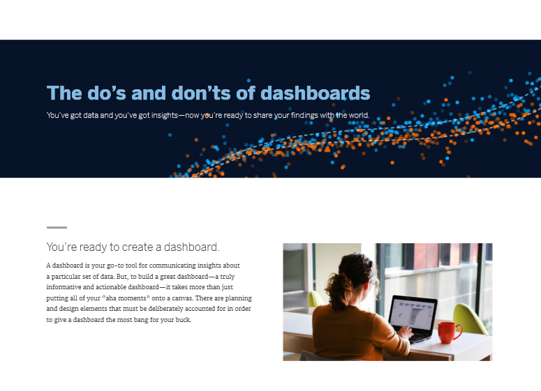 The do's and don'ts of dashboards