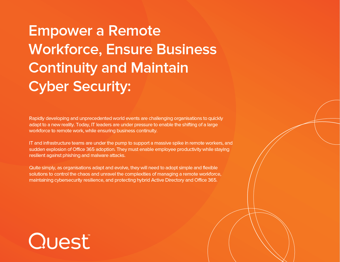 Triple Play - Maintain Cyber Security, Ensure Business Continuity, and Empower a Remote Workforce