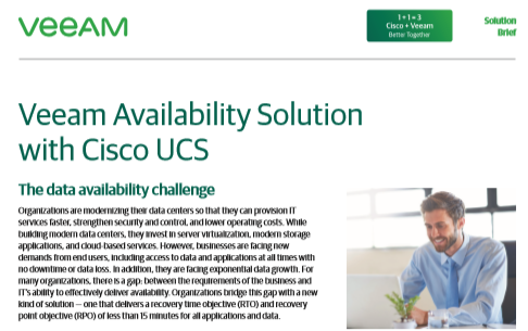 Cisco+Veeam Better Together Veeam Availability Solution with Cisco UCS
