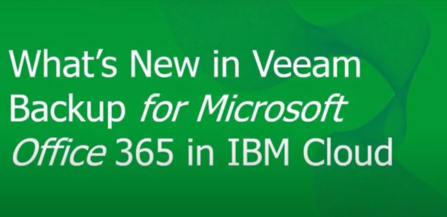 Configure Veeam Backup for Microsoft Office 365 into IBM Cloud