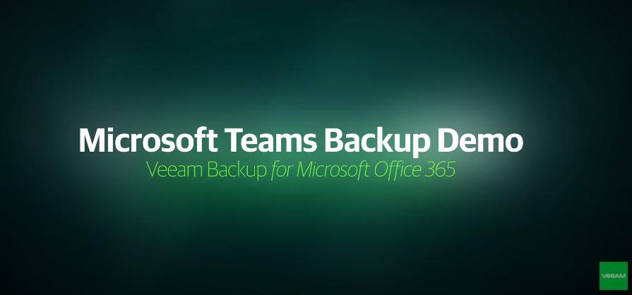 Microsoft Teams Backup Demo