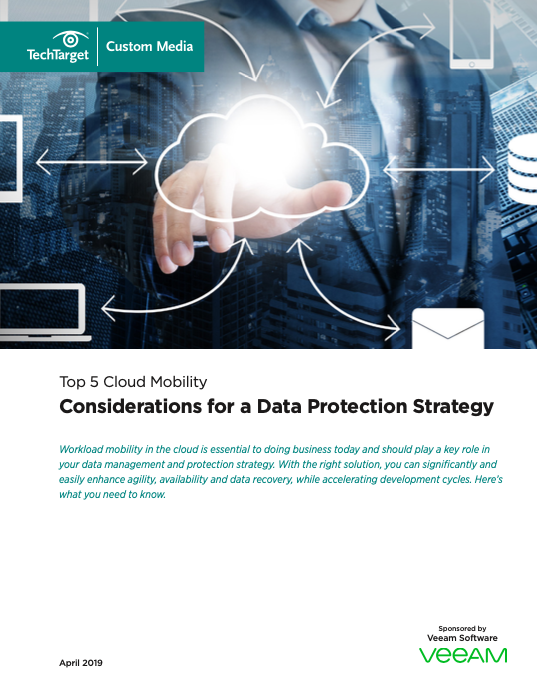 Top 5 Cloud Mobility Considerations for a Data Protection Strategy