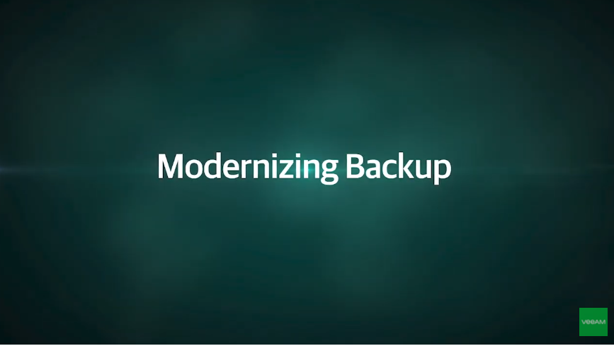 5-min demo: Modernizing Backup