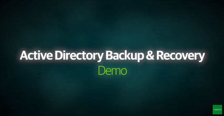 DEMO VIDEO: Applications Recovery