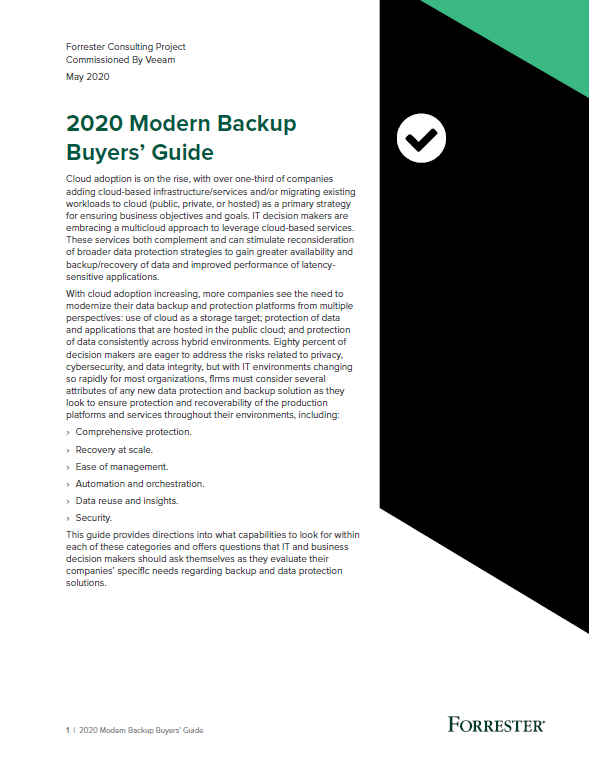 2020 Modern Backup Buyers' Guide