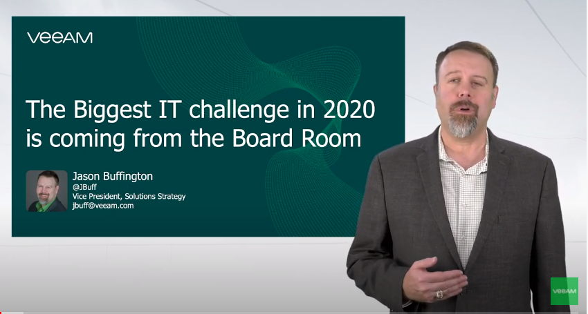 The Biggest IT challenge in 2020 is coming from the board room