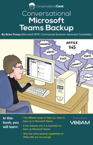 Microsoft Teams Backup - a Conversational Geek E-book
