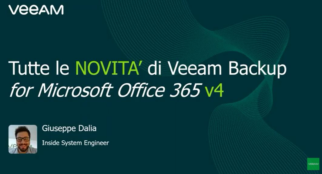 Tutte le novità di Veeam Backup for Office 365 v4