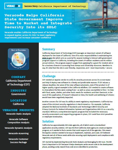 California Department of Technology Case Study