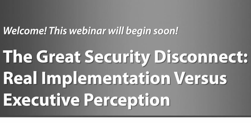The Great Security Disconnect: Real Implementation Versus Executive Perception