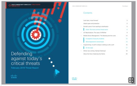 Cisco Cybersecurity Series 2019: Threat Report
