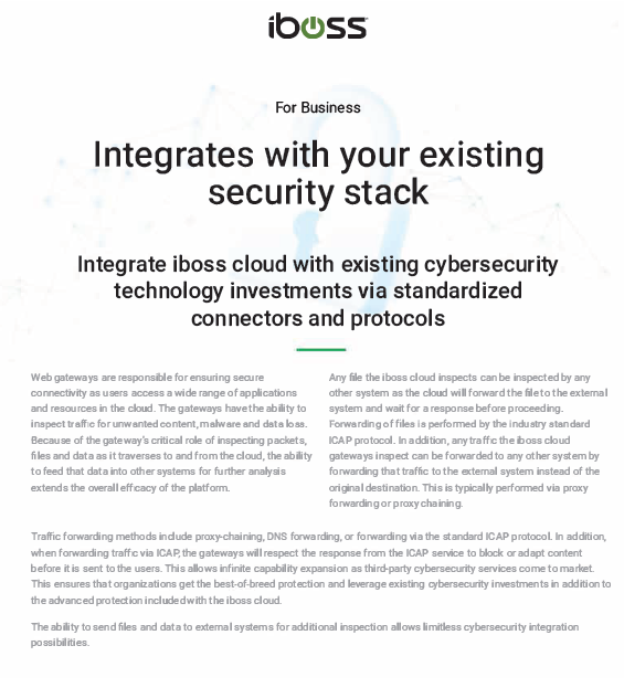 Integrates with your existing security stack