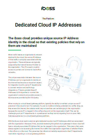 Dedicated Cloud IP Addresses