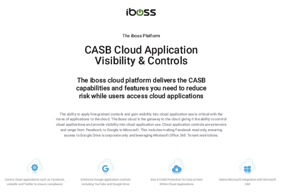 CASB Cloud Application Visibility & Controls