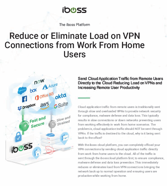 Reduce or Eliminate Load on VPN Connections from Work From Home Users